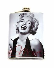 MARILYN MONROE LAUGHING HIP FLASK STAINLESS STEEL 8OZ SEXY PINUP FM1