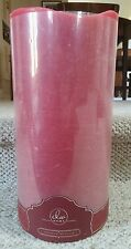 "NEW 12"" PINK RoSe LED WAX PILLAR CANDLE * Battery Operated * FLICKER FLAME"