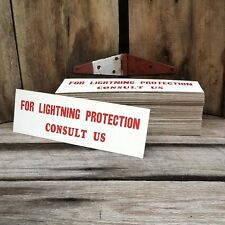 20 WHOLESALE LOT Vintage 1930s LIGHTNING PROTECTION CONSULT US Cardboard Sign