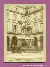 CDV FORMAT CABINET : PARIS, LA STATUE DE JEANNE D'ARC VERS 1880 -L135