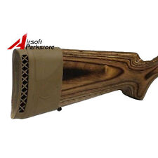 Hunting Gun Rifle Recoil Pad Rubber Slip On Butt Stock Extension Shock Pad Tan