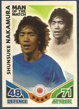 TOPPS MATCH ATTAX WORLD CUP 2010-MOTM-JAPAN-SHUNSUKE NAKAMURA-SILVER FOIL