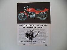 advertising Pubblicità 1977 MOTO GUZZI 250 254