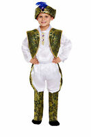 Children's Indian Prince Bollywood Fancy Dress Costume Age 4-12