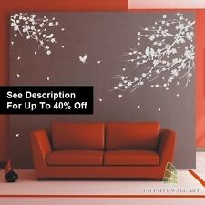 Wall Stickers Tree Bird Family Tree Flower Nursery Kids Wall Art Sticker-e-D502