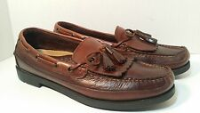 Sperry Top Sider Men's Kiltie Tassel Loafers Brown Leather 11.5 M Boat Shoes