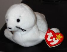 CT* Ty Beanie Baby ~ SEAMORE the White Seal ~ MINT with CREASED TAG ~ RETIRED