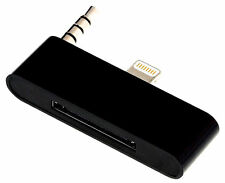 Black 8 To 30 Pin Audio Adapter for iPhone 5 5s 5c iPhone 4 Docking ihome Bose