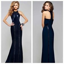 NEW Celeb Navy Long Maxi  Boutique Dress size 10-12-14 available