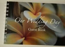 wedding guest book yellow full frangipani