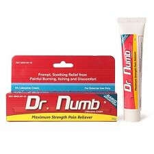 Dr Numb 5% Lidocaine Cream 30g Skin Numbing Tattoo/Removal Waxing Piercing - New
