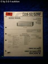 Sony Service Manual CDX 52/52RF CD Wechseler (#0046)