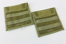 "MSAP Side Plate Carriers (Fits 6x6"" Plate) Khaki Tan Pouch Pair MOLLE Add-On"