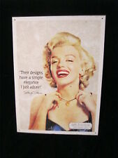 MARILYN MONROE METAL SIGN - LAH JEWELERS - 1996 CMG WORLDWIDE, INC.