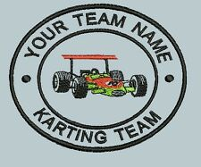 Embroidered Patch Personalised Go Karting Motocross Biking Club Team Badge