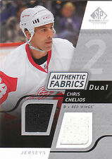 2008/9 SP Game Used dual game used jersey card Chris Chelios Red Wings