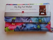 My Big Fat Floral Checkbook Wallet, Hot Pink