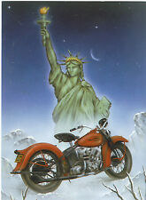 Motorcycle Greeting Cards w/Harley Davidson Graphic- Statue of Liberty