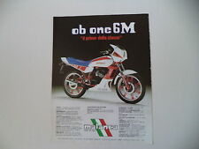 advertising Pubblicità 1984 MOTO MALANCA 125 OB ONE 6M