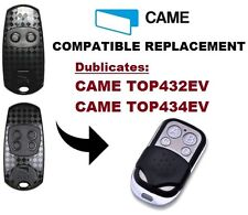 CAME TOP432EV / TOP434EV Garage Door/Gate Remote Control Replacement/Duplicator