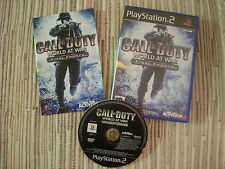 PLAYSTATION 2 PS2 CALL OF DUTY WORLD AT WAR FINAL FRONTS USADO BUEN ESTADO