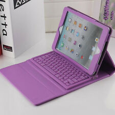 Purple Stand Leather Case Cover With Bluetooth Keyboard For Apple iPad 2/3/4