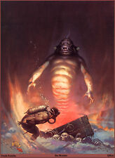 "Authentic Frank Frazetta Print ""Sea Monster"" #9 17X23"