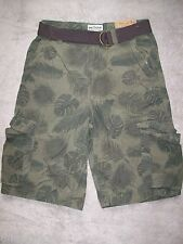 NWT NEW ~ Urban Pipeline ~ Boys Teens Young Mens Cargo Shorts 18 Green
