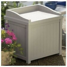 Outdoor Bench Box Seat Storage Cabinet Furniture Yard Patio Garden Deck Pool