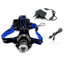 Rechargeable 2000Lm Zoomable CREE XM-L T6 LED Headlamp Headlight Light Head USB