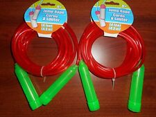 NEW-2-14 FT DOUBLE DUTCH JUMP ROPE-LONG-SPEED-RED-VINYL-SCHOOL-CORD-COMPETITION