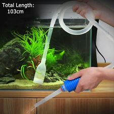 New Aquarium Gravel Battery Fish Tank Vacuum Syphon Cleaner Pump Water 103cm