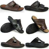 MENS LEATHER SANDALS BOYS WALKING TRAIL SURFING SLIP ON SUMMER BEACH SHOES SIZE