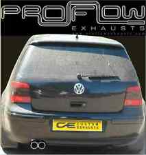VW GOLF MK4 STAINLESS STEEL CUSTOM BUILT EXHAUST BACK BOX TWIN TAIL PIPE