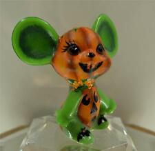 Fenton MOUSE Chameleon Green PERRY PUNKIN STACK for Halloween OOAK FREEusaSHIP
