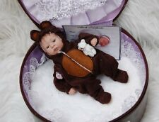 Beautiful Bear Design Tiny Reborn Baby By Travelin' Teenies ~ OOAK ~ Cute Size!!