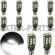 10X 1400 Lumens CAN-BUS T10 High Power 15W LED White Backup Reverse Light Bulbs