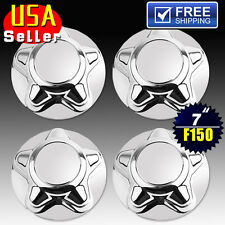 "4pcs Fits 97-04 F150 & Expedition Set of 4 Chrome 7"" Wheel Hub Caps Center Caps"