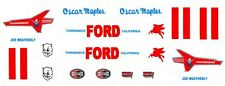 #11 Joe Weatherly Torrance Ford 1955 1/64th HO Scale Slot Car Decals