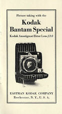 Kodak Bantam Special Instruction Manual: Compur Shutter, 1937