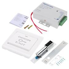 Electric Bolt Lock +Door Switch+DC 12V Power Supply Kit Door Access Control N8L7