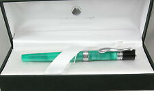 Monteverde Jewelria Green & Chrome Fountain Pen - Stub Nib - New - 50% Off