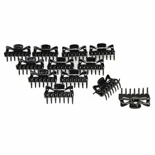 12pcs Women Girls Hair Claw Clip Jaw Clamp Black Hairpin Tiara FS