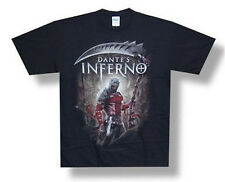 "DANTE'S INFERNO - ""WARRIOR"" DANTE PORTRAIT BLACK T-SHIRT - NEW ADULT  SMALL S"