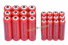 12 AA 3000mAh + 12 AAA 1800mAh 1.2V NI-MH Rechargeable Battery 2A 3A Red Cell