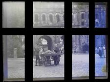 PLAQUE VERRE PHOTO NEGATIF MARCHAND AMBULANT vers 1925 TREVES TRIER DEUTSCHLAND