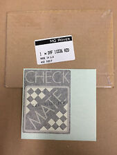 Classic Mini 'CHECKMATE' Bootlid Decal *DAF10336RZD*