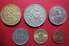 SINGAPORE, Lot of  6  COIN TYPES, Complete  from $1  to 1  Cent Coin Series