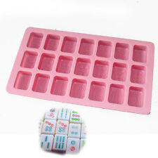 Chinese Mahjong Chocolate Ice Cube Soap Candy Mold Silicone Cake Decor