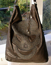 "Authentic Thomas Wylde Dark Brown Studded Skull ""IT""  Bag -- INFAMOUS!!"